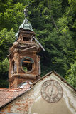 Old abandoned wooden Town Hall with clock in Slovakia Royalty Free Stock Photo
