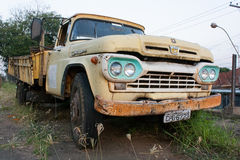 Old Abandoned Yellow Ford Stock Images