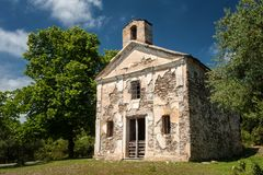 Old abandonment chapel. At the east coast of Corsika (France Stock Photos