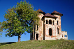 Old abandonned romanian castle Stock Photos