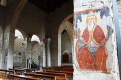 Old abbey. The old church of trinity abbey at venosa in italy Royalty Free Stock Photos