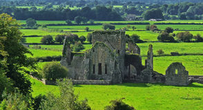 Old Abbey in Cashel. Rock of cashel - ruins of Ireland Royalty Free Stock Images