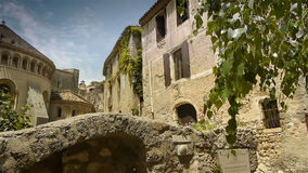 Old abbey at historic St Guilhem le Desert, Cevennes France