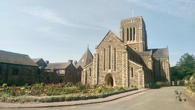 Old Abbey. Mount saint Bernard Abbey, Leicestershire uk, England stock image