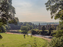 Old abbey. The old abbey and river wharfe at Bolton Abbey, Skipton, Yorkshire, UK Royalty Free Stock Photo