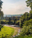 Old abbey. The old abbey and river wharfe at Bolton Abbey, Skipton, Yorkshire, UK Stock Photography