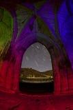 Old abbey ruins at night Royalty Free Stock Photo