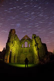 Old abbey ruins at night Stock Image