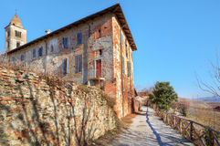 Old abbey in town of La Morra, Northern Italy. Royalty Free Stock Images
