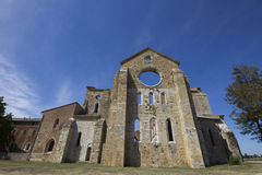 Old abbey in Tuscany Stock Images