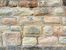 Old abbey wall with Royalty Free Stock Images