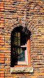 Old Abby Stairwell Window in South Orange Royalty Free Stock Photo