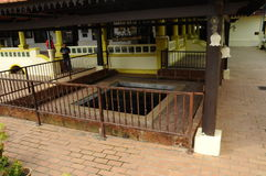 Old Ablution at Kampung Duyong Mosque in Malacca Royalty Free Stock Images