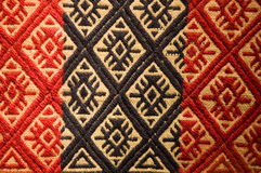 Old aboriginal tapestry from Argentina. Royalty Free Stock Images