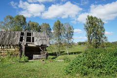 Old abounded wooden house in a village Stock Images