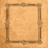 Old abstract background-2. Abstract old brown background with decorative pattern. Abstract illustration Stock Image
