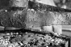 The old abstract charred iron details Royalty Free Stock Photo