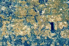 Old abstract texture of a decayed stone surface Royalty Free Stock Photo