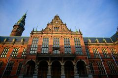 Old academic building of the University of Groningen. The image of the historic Old academic building of the University of Groningen Royalty Free Stock Photo