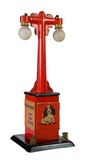 Old Accesory for Toy Trains. Old lamp post meant as an accessory for electric toy trains Royalty Free Stock Images
