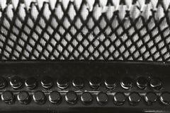 Old accordion keys Stock Photo