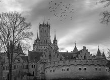 The old and acient Marienburg Castle, Germany.  Royalty Free Stock Images
