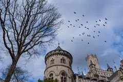 The old and acient Marienburg Castle, Germany.  Royalty Free Stock Photo