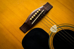 Old acoustic guitar. Royalty Free Stock Photos