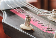 Old acoustic guitar Stock Photography