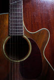 Old acoustic guitar,still life. Royalty Free Stock Image