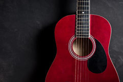 Old acoustic guitar Royalty Free Stock Image