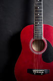 Old acoustic guitar Royalty Free Stock Images