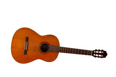 An old acoustic Spanish guitar Stock Photo