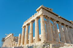 The Acropolis in Athens Greece royalty free stock photography