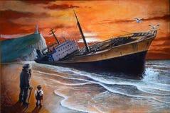 The big wreck vector illustration