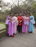 Old actors of chinese ancient drama in a park,chengdu,china Stock Photos