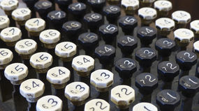 Old Adding Machine Buttons Royalty Free Stock Photos