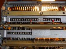 The Old Adding Machine. Illuminated by backlight stock photography