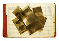Old Address Book and Negatives Royalty Free Stock Photo