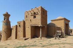 Old adobe building. Adobe buildings of the old fortress royalty free stock image