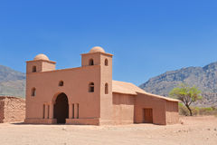 Old adobe church, Argentina. Royalty Free Stock Images