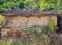 The old adobe house HDR. The old adobe house with stone foundation, HDR efect Stock Images