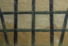 Old adobe wall of the half timbered house Royalty Free Stock Photography