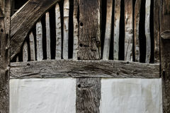 Old adobe wall of the half timbered house Royalty Free Stock Photos
