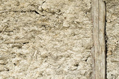 Old adobe wall. Of the house Royalty Free Stock Photo
