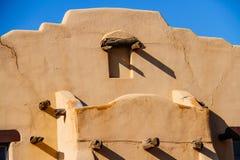 Old Adobe Wall. In Santa Fe, New Mexico royalty free stock photo