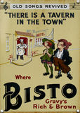 Old advert - bisto Stock Photo