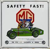 Old advert - MG. Very old advert of MG car Royalty Free Stock Images