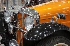 Old Aero car on static display Royalty Free Stock Images