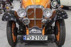 Old Aero car on static display Stock Photography